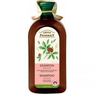 Szampon do włosów tłustych u podstawy i suchych na końcach Żeń-szeń Green Pharmacy 350ml