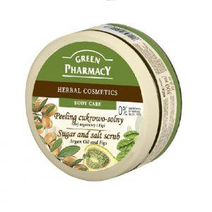 Peeling cukrowo - solny Olej arganowy i Figi Green Pharmacy