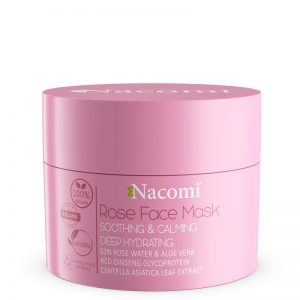Maska różana łagodząco uspokajająca Nacomi 50ml - biokosmetyki24.com