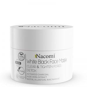 Maska biało czarna detoksykująca Nacomi 50ml - biokosmetyki24.com