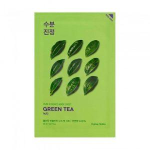 Maseczka na bawełnianej płachcie z ekstraktem z zielonej herbaty Holika Holika