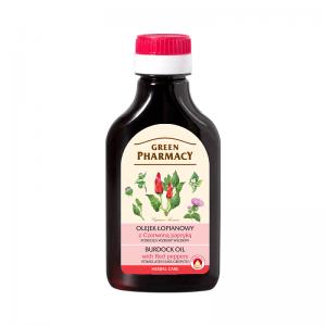 Olejek pobudzający wzrost włosów łopianowy z czerwoną papryką Green Pharmacy