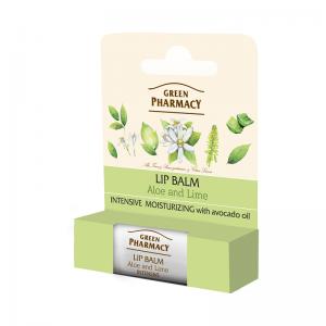 Balsam do ust, aloes i limonka, intensywnie nawilżający, SPF 10 Green Pharmacy biokosmetyki24.com