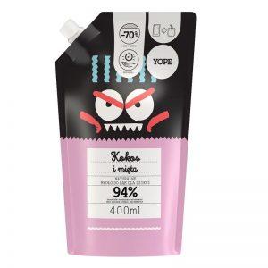 Mydło do rąk dla dzieci Kokos i mięta Refill Yope 400ml - biokosmetyki24.com